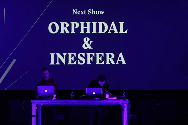 Visuals at the Mira festival in Barcelona with the artist Orphidal.